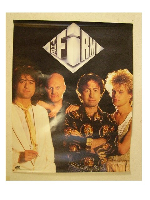 the firm band shot poster led zeppelin bad company old ebay. Black Bedroom Furniture Sets. Home Design Ideas
